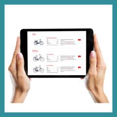 RentOut online bestelmodule fietsverhuur